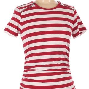 NWT Michael Michael Kors Red & White Short Sleeve